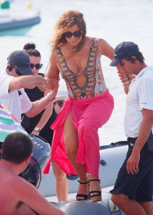 Mariah Carey on Vacation in Ibiza