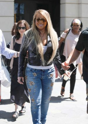 Mariah Carey out in Barcelona
