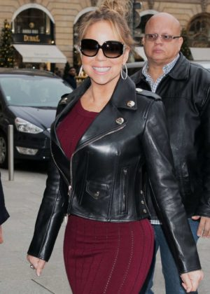 Mariah Carey - Seen at Plaza Athenee hotel in Paris