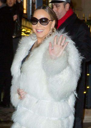 Mariah Carey - Seen Leaving Plaza Athenee Hotel In Paris
