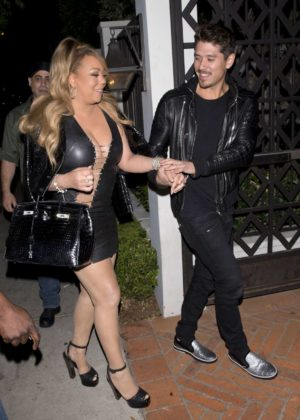 Mariah Carey - Spotted at Gracias Madre in Los Angeles