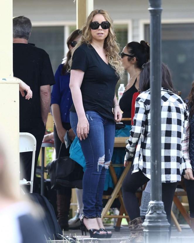 Mariah Carey: Filming A Christmas Melody -06