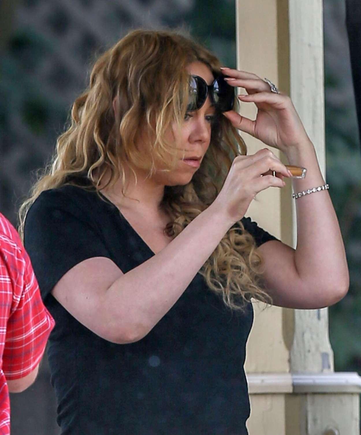 A Christmas Melody.Mariah Carey Filming A Christmas Melody 15 Gotceleb