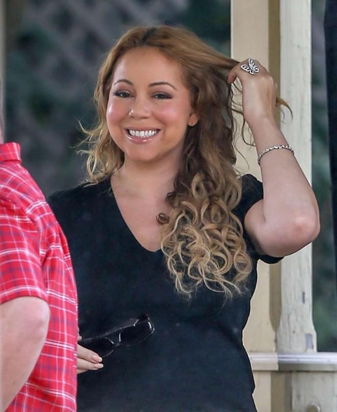 Mariah Carey: Filming A Christmas Melody -16 - GotCeleb