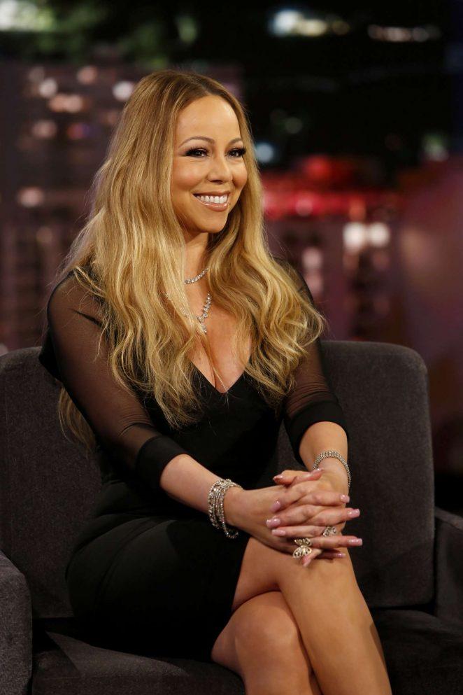 Mariah Carey  - Visits 'Jimmy Kimmel Live!' in Los Angeles
