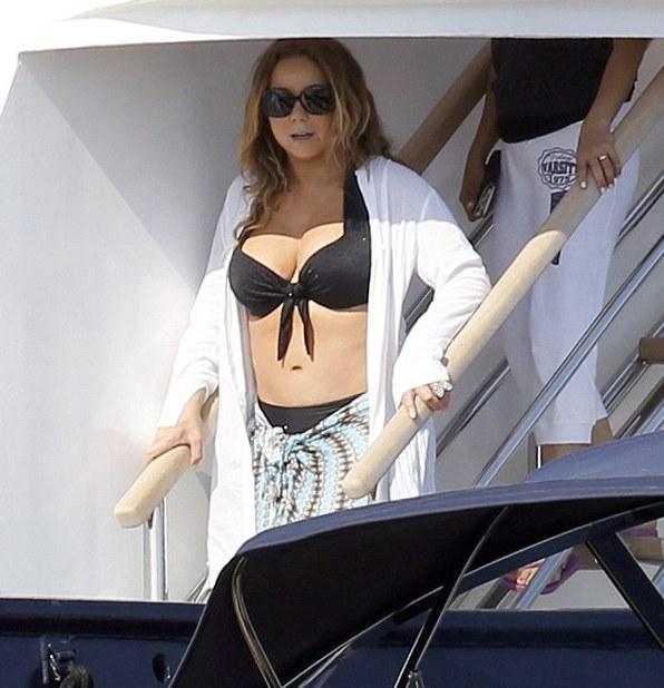 Mariah Carey in Bikini in St  Barts TooFab