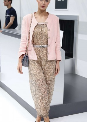 Marie-Ange Casta - Chanel Show as part of Paris Fashion Week in Paris