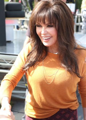 Marie Osmond at 'Extra' in Hollywood