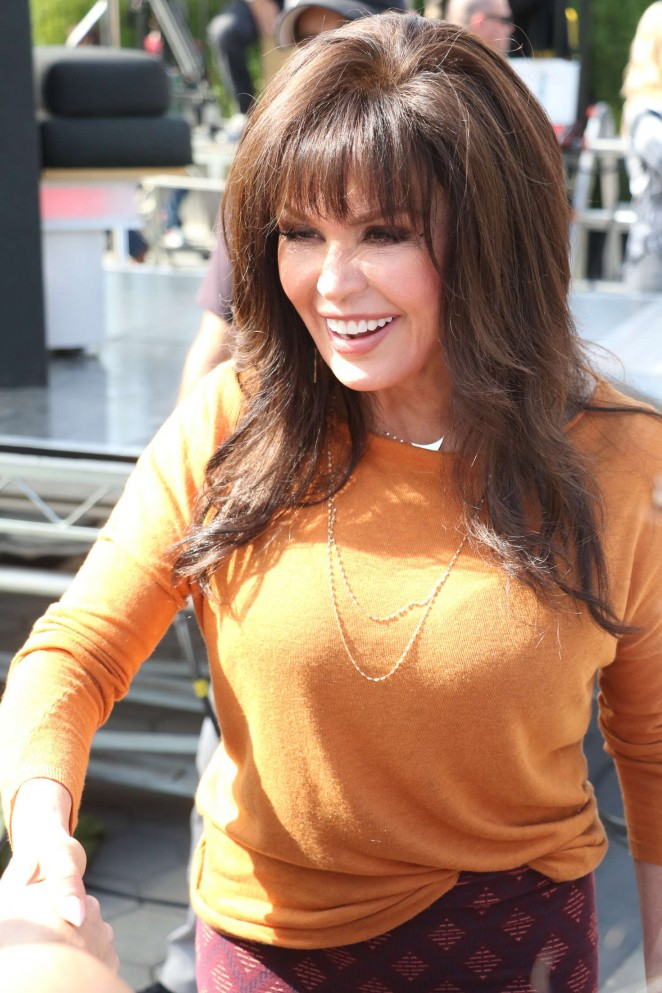 Marie Osmond at Extra in Hollywood -02