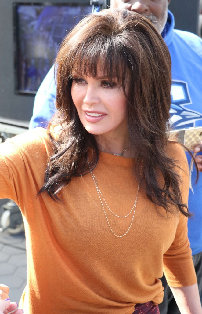 Marie Osmond at Extra in Hollywood -03