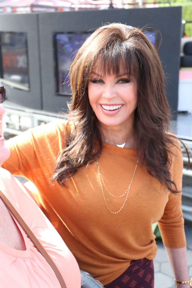 Marie Osmond at Extra in Hollywood -04