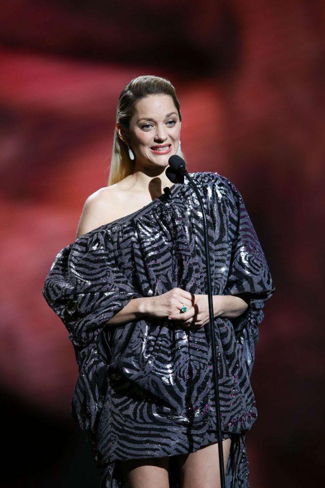 marion cotillard 2018 cesar film awards ceremony in paris. Black Bedroom Furniture Sets. Home Design Ideas