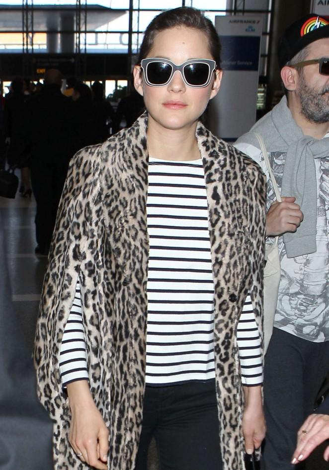 Marion Cotillard at LAX Airport -06