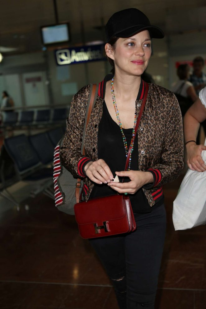 Marion Cotillard at Nice Airport in France