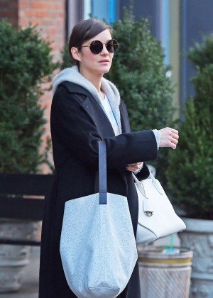 Marion Cotillard - Leaving a hotel in New York City