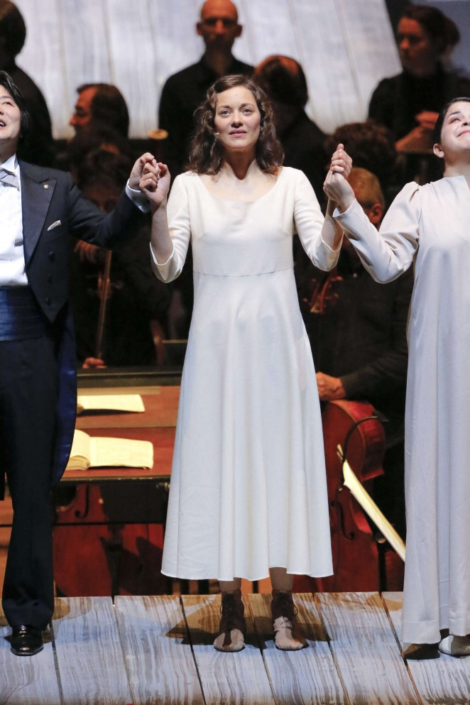 "Marion Cotillard - Performs on stage during Oratorio ""Joan Of Arc At The Stake"" in Paris"