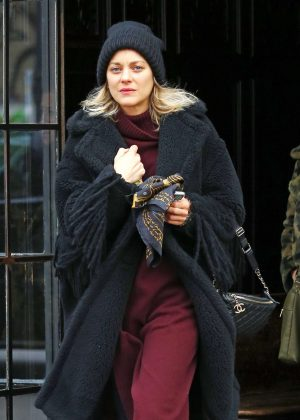 Marion Cotillard - Returns to the Bowery Hotel in New York