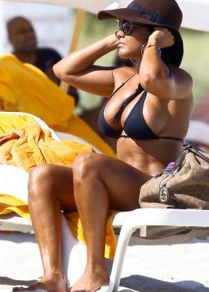 Maripily Rivera - In A BIkini On the Beach In Miami