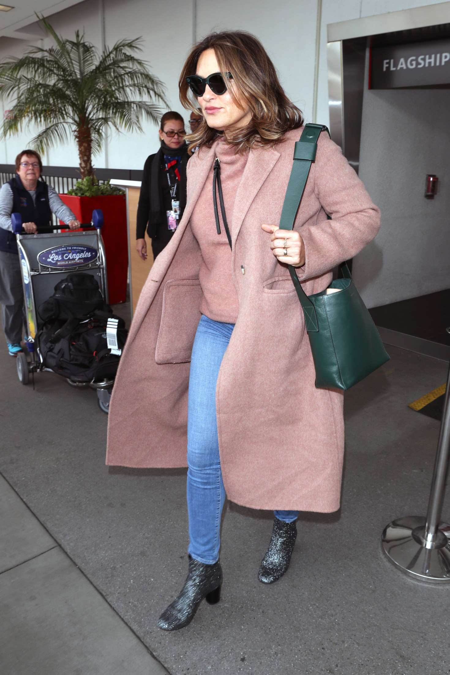 Mariska Hargitay – Arriving at LAX Airport in Los Angeles