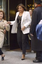 Mariska Hargitay - Leaving the NBC Upfronts in New York