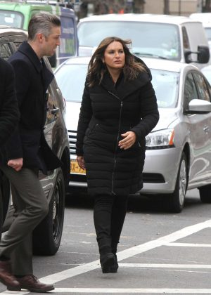 Mariska Hargitay - On The Set Of 'Law and Order: Special Victims Unit'