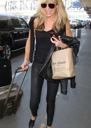 Marla Maples - Arrives at Los Angeles International Airport