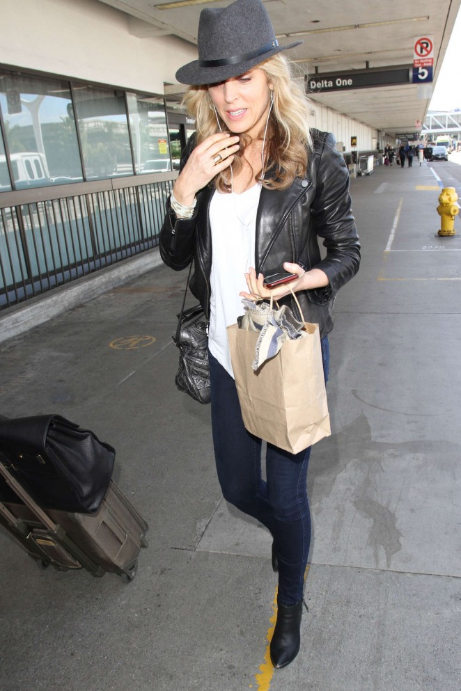 Marla Maples at Los Angeles International Airport