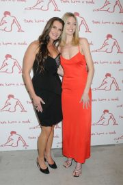 Martha Hunt and Brooke Shields - 28th Annual Take Home a Nude Art Auction and Party in NYC