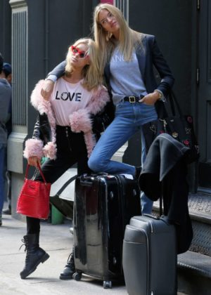 Martha Hunt and Elsa Hosk - Out in NYC