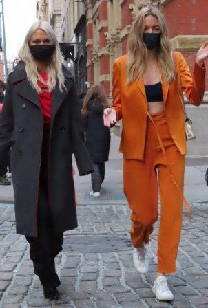 Martha Hunt and Zanna Rassi - Pictured at Jason Wu fashion show in New York