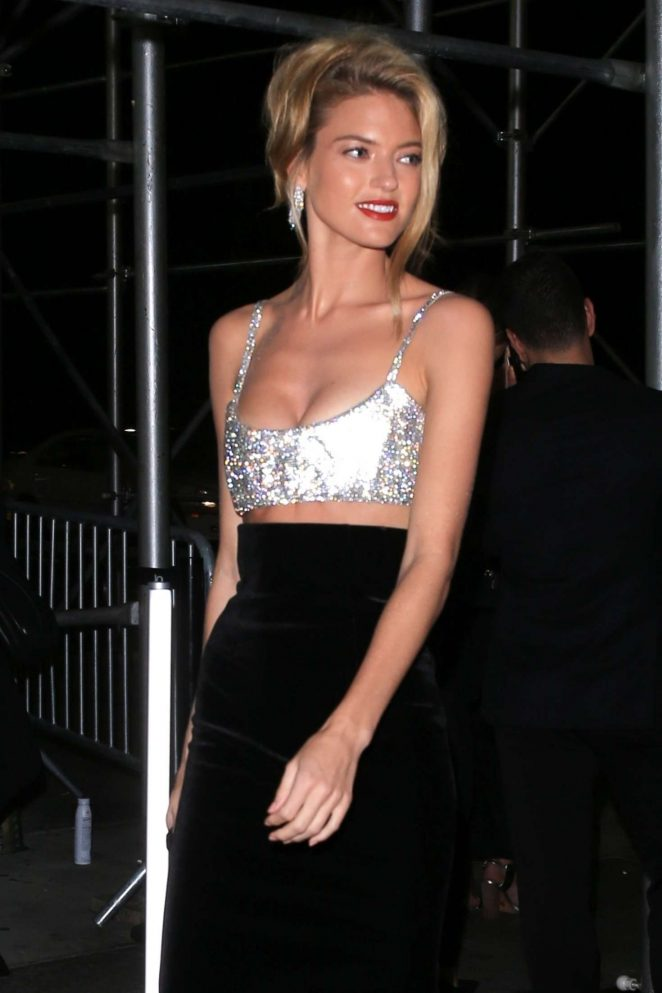 Martha Hunt - Arrives at Harper's Bazaar ICONS Party in New York