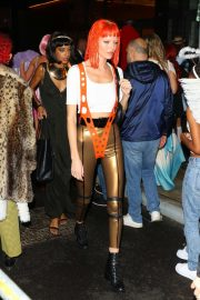 Martha Hunt - Arrives at Heidi Klum's Halloween Party in New York