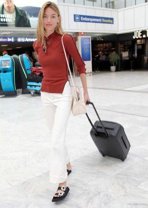 Martha Hunt at Nice Airport