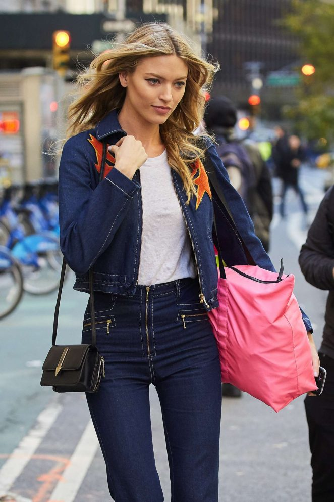 Martha Hunt at Victoria's Secret Fashion Show Fittings in NYC