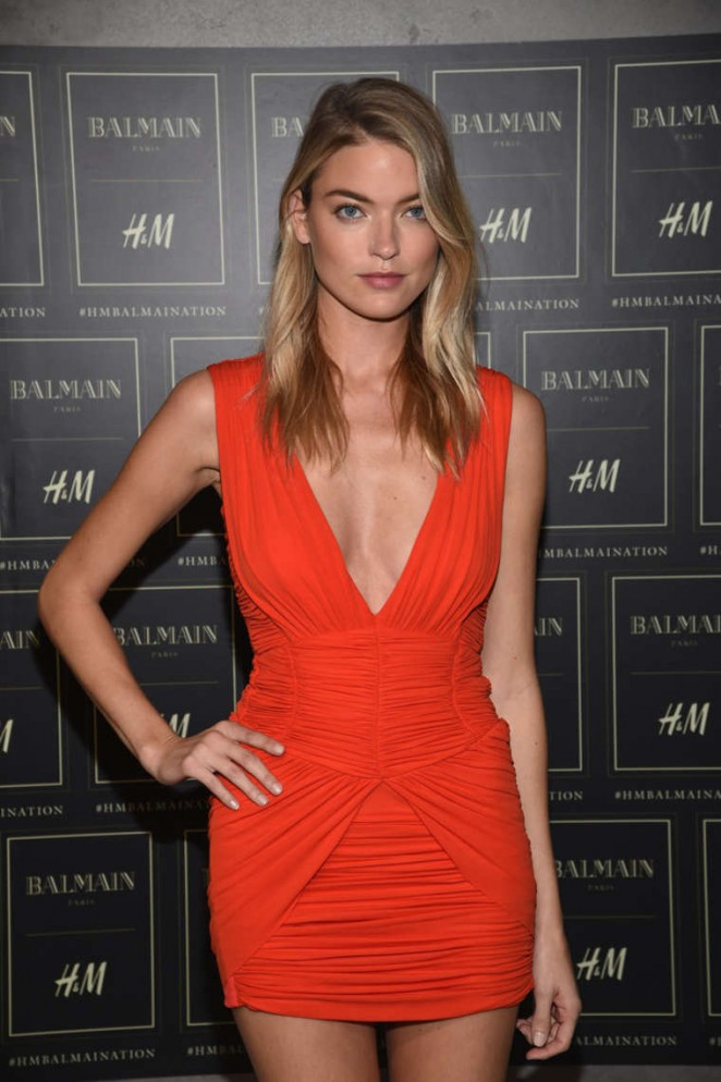 Martha Hunt - Balmain x H&M Collection Launch in NYC