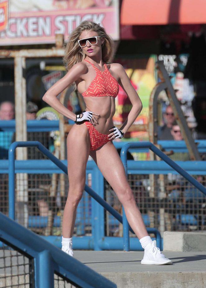 Martha Hunt - Bikini Photoshoot in Santa Monica
