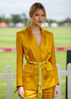 Martha Hunt - Cartier Queens Cup Polo in Windsor