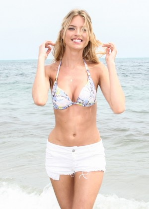 Martha Hunt - Celebrates the Victoria's Secret Swim Special in Miami