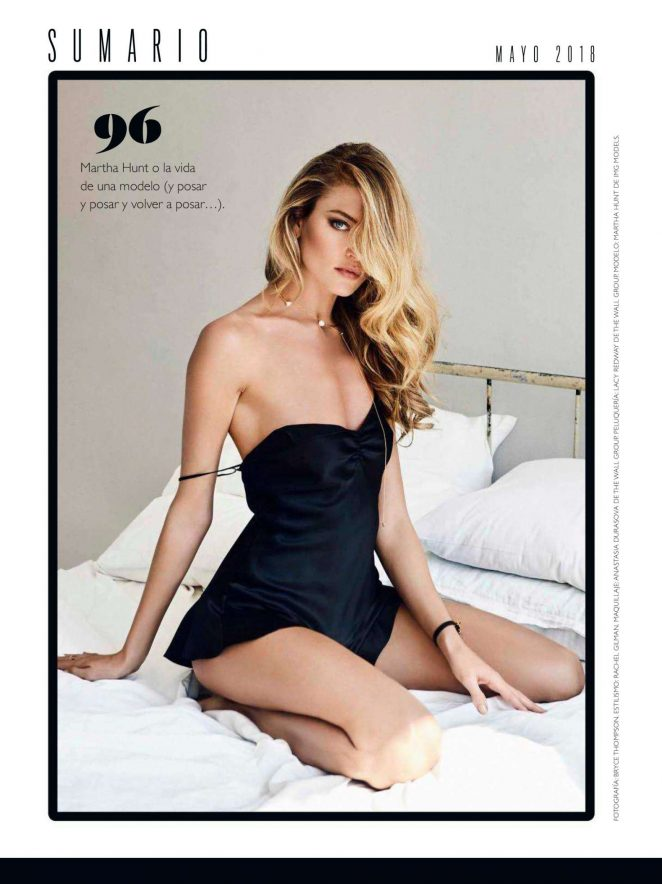 Martha Hunt – GQ Spain Magazine (May 2018)
