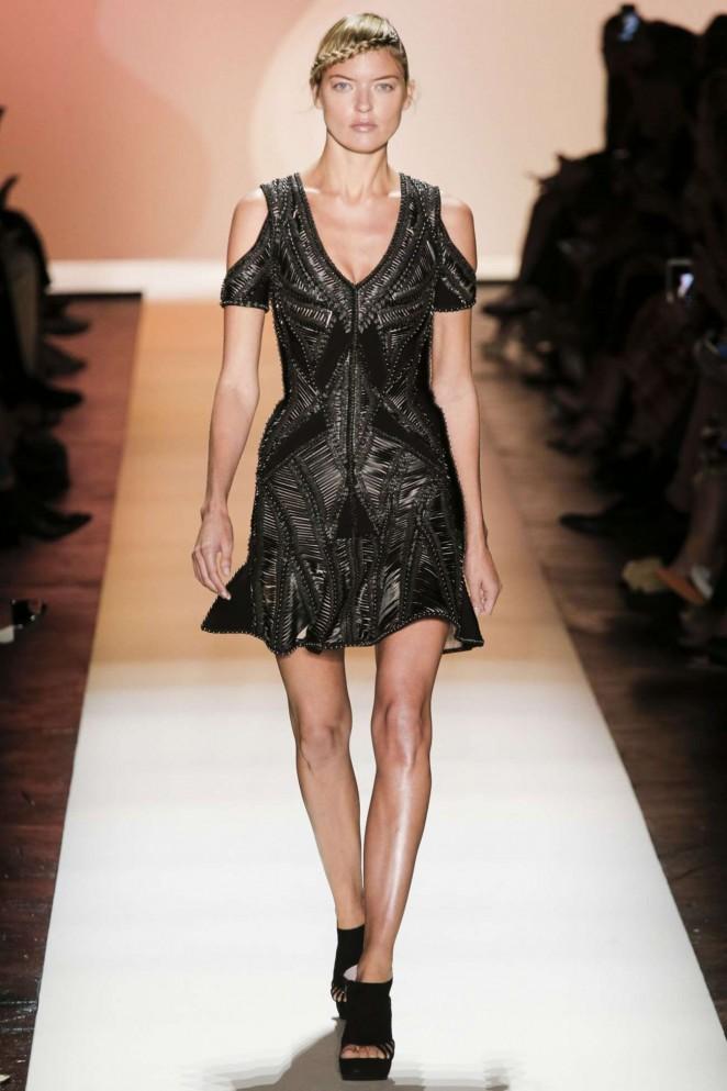 Martha Hunt – Herve Leger by Max Azria Fashion Show in NYC