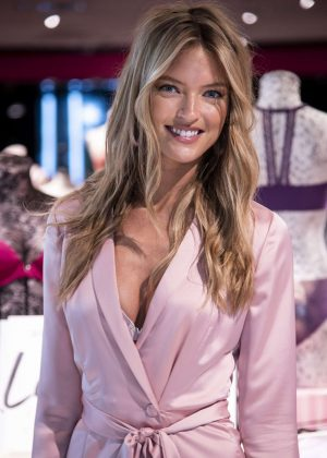 b4cbe244e07d Martha Hunt  Illusions Collection Launch at a Victorias Secret Store ...
