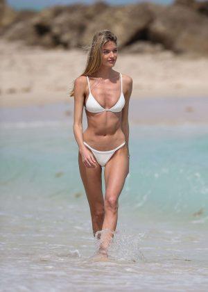 186a7cd955a2 Martha Hunt in a tiny white bikini 2017 -50 - Full Size