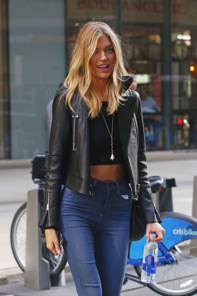 Martha Hunt in Jeans out in NYC