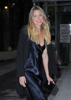 Martha Hunt - Leaving Spring Studios after a photoshoot in NY