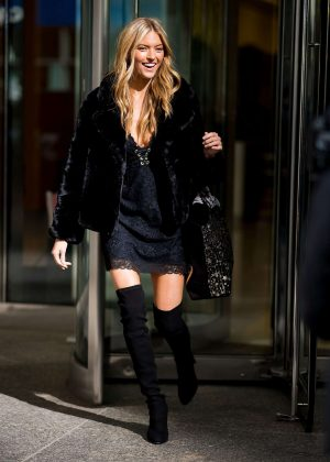 Martha Hunt - Leaving the Victoria's Secret offices in New York