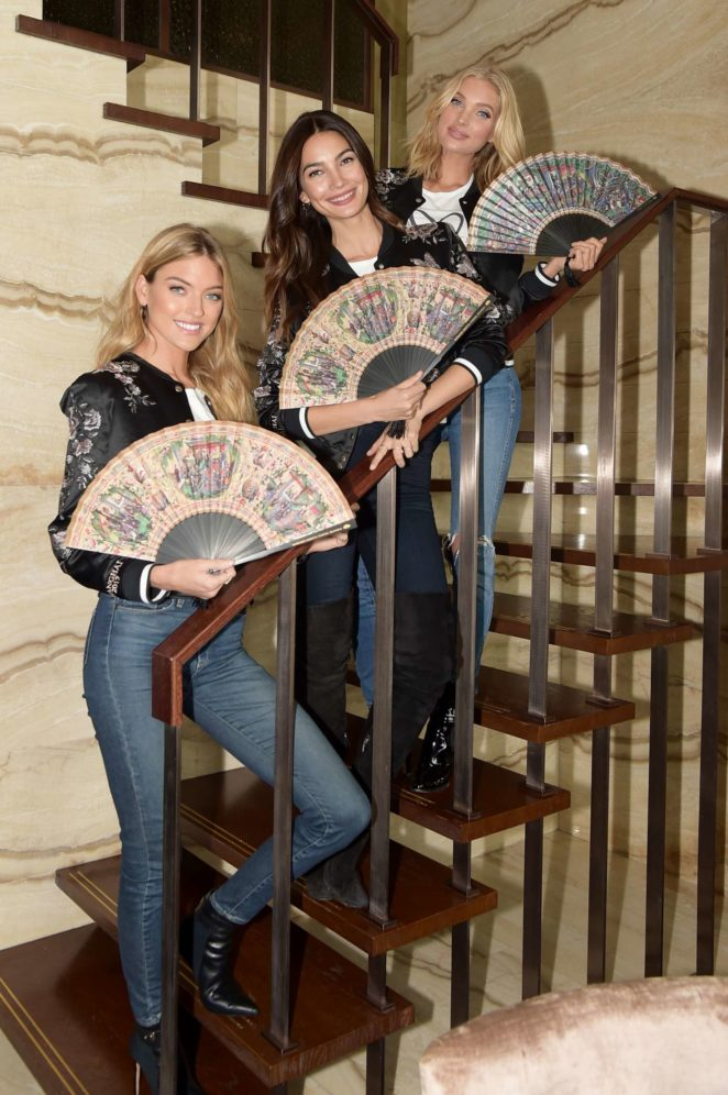 Martha Hunt, Lily Aldridge and Elsa Hosk at the Mandarin Oriental Hotel in Shanghai