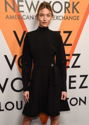 Martha Hunt - Louis Vuitton 'Volez, Voguez, Voyagez' Exhibition Opening in NY