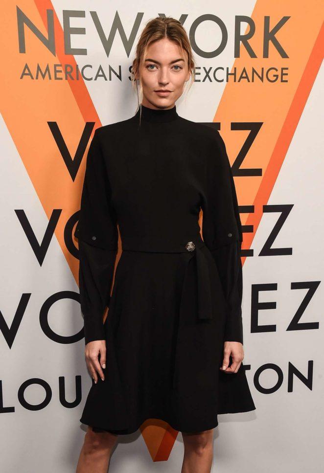 Martha Hunt - Louis Vuitton 'Volez, Voguez, Voyagez' Exhibition Opening in NY