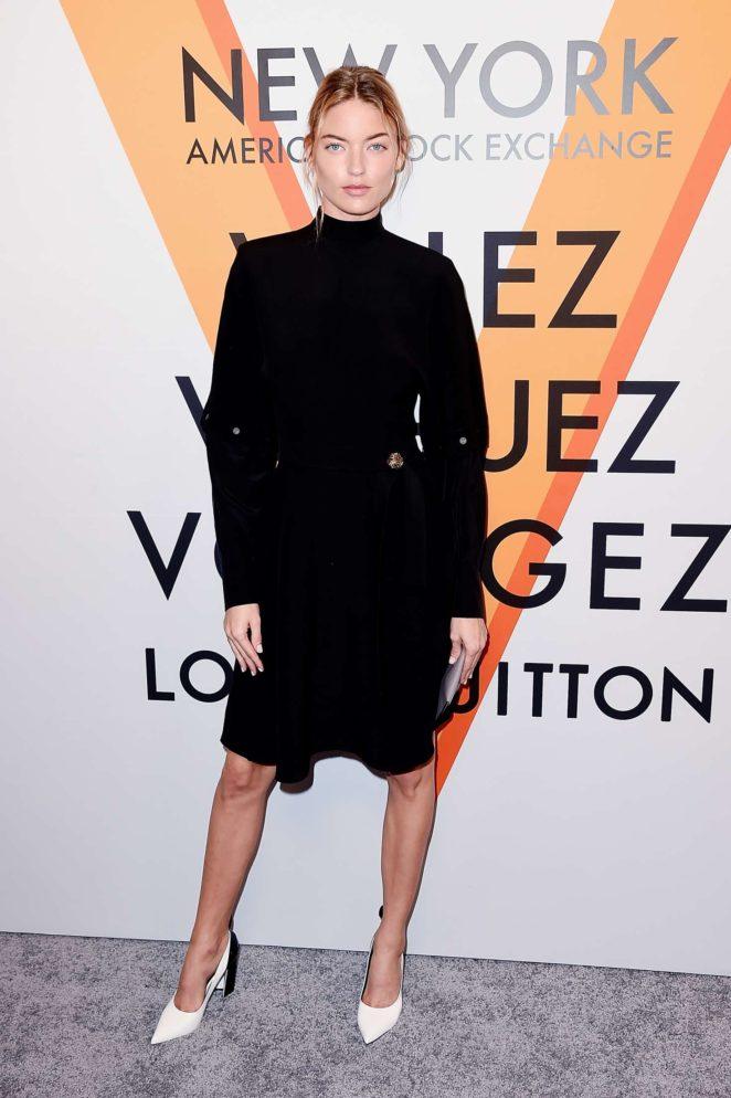 Martha Hunt: Louis Vuitton Volez, Voguez, Voyagez Exhibition Opening -06