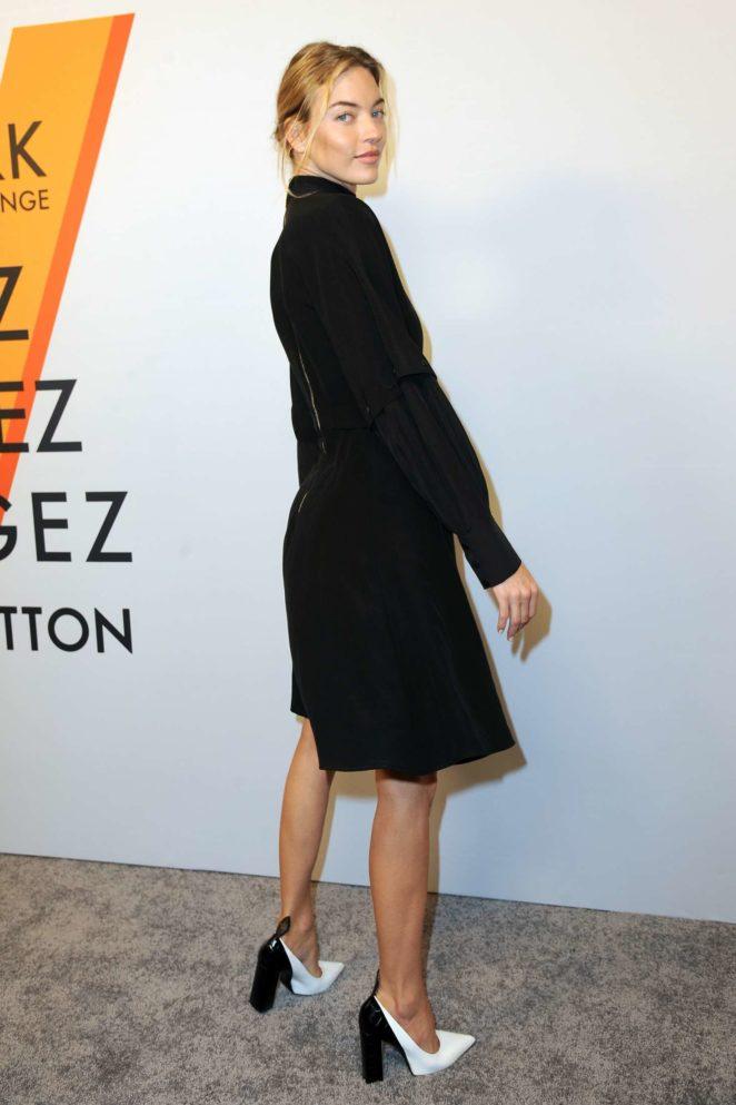Martha Hunt: Louis Vuitton Volez, Voguez, Voyagez Exhibition Opening -08